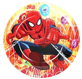Funcart Spiderman Theme Disposable Paper Plate (Pack Of 6)