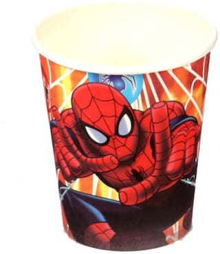 Funcart Spiderman Theme Paper Cup (Pack Of 6)