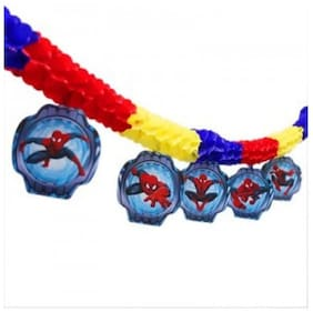 Funcart Spiderman paper garland decoration streamer with cutouts - 3 m long