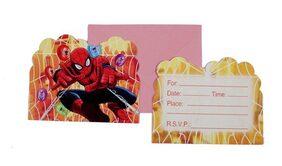Funcart Spiderman Theme Invitation (Pack Of 6)