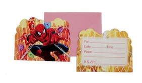 Funcart Spiderman Theme Invitation (Pack Of 6)