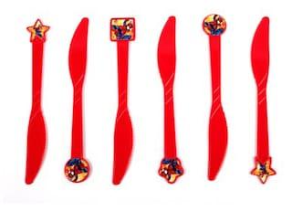 Funcart Spiderman Theme Knife (Pack Of 6)
