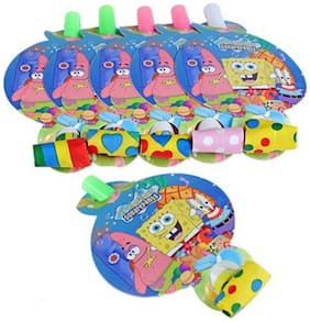 Funcart Spongy Bob Theme Blowouts ( Pack Of 6)