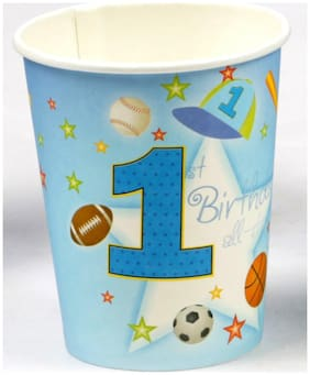 Funcart Sporty At 1 Theme 255.14 g (9 Oz) Paper Cup( Pack Of 6)