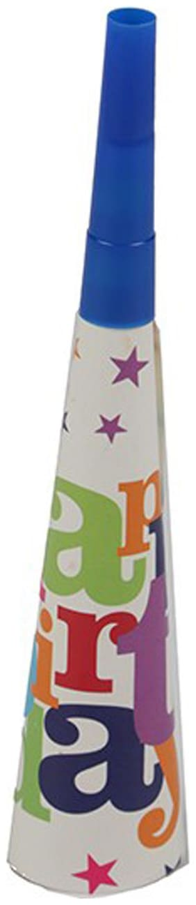 Funcart Star Birthday Theme Horns ( Pack Of 6)
