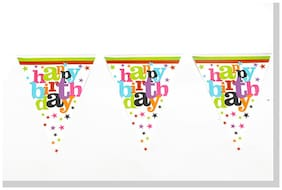 Funcart Star Birthday Theme Triangular Flag Banner