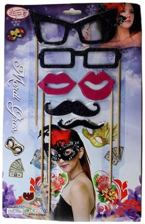 Funcart Stick Funcart Party Set Mustache Lips And Glasses Photo Booth Prop (6 Piece Set)