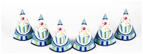 Funcart Sweet Treat Cupcake Blue Theme Party Cone Caps