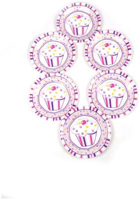 Funcart Sweet Treat Cupcake Pink Theme Disposable Paper Plate