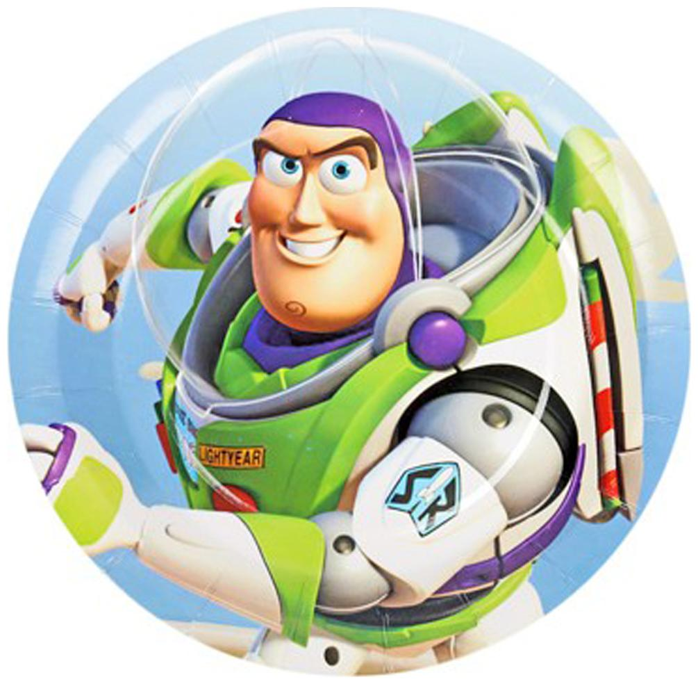 Funcart Toy Story Theme Disposable Paper Plate   Pack Of 6