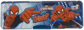 Funcart Ultimate Spiderman magnetic pencil box with two side compartments and sharpeners