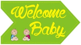 Funcart Welcome Baby Photo Booth Board