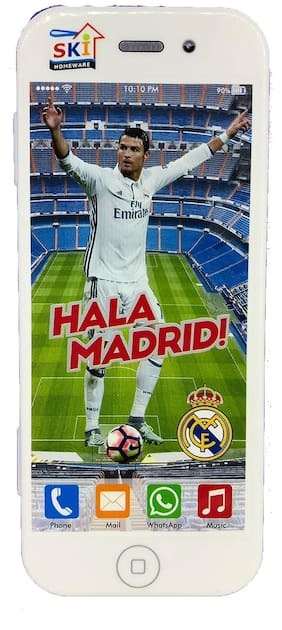 Funcart White Hala Madrid!  I Phone Selfie Stationery pencil Box