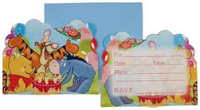 Funcart Winnie The Pooh Theme Invitation ( Pack Of 6)