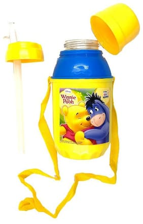 Funcart Winnie the Pooh! sipper straw water bottle with leakproof cap (600 ml)