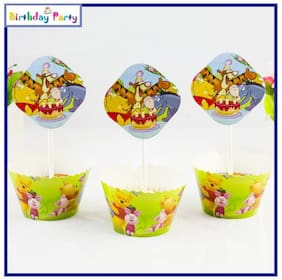 Funcart Winnie The Pooh theme cup cake wrapper