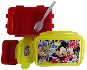 Funcart yellow and red Mickey Mouse & Friends Selfie Lunch Box