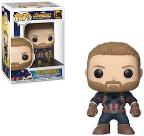 Funko POP! Captain Marvel - Captain america Bobblehead Figure (Multicolor)