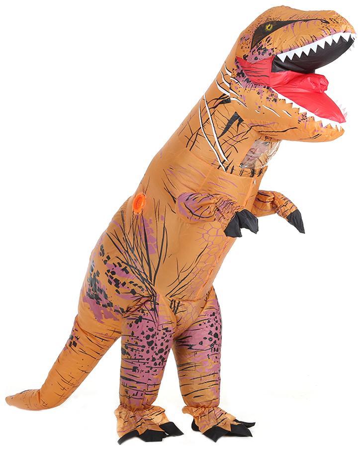 NEW Inflatable T-Rex Dinosaur Costume Adult Kids Fancy Dress Blow Up Suit Outfit