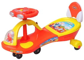 Funride Boost Deluxe Twist and Swing Magic Car for Kids with Music and Lights for Boys and Girls (1 Year to 4 Years) - Red