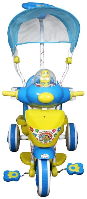 Funride HoneyBee Tricycle with Umbrella Hood and Parental Handle for Kids