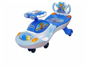 FunrideGalaxy Twist and Swing Magic Car Ride On for Kids with Music and Lights for Boys and Girls (1 Year to 4 Years) - Blue