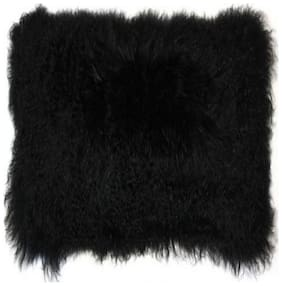 Fur Cloth Black Long Hair, Size 96.52 cm (38 inch) x 86.36 cm (34 inch) , 9 Cms Hair Length Used For Dresses, Soft Toys Making, Jackets Etc