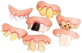 Futaba 8pcs/ Set Cosplay Halloween Decor Props False Teeth