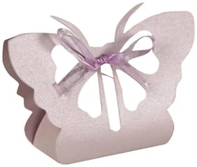 Futaba Laser Cut Butterfly Gifts Candy Boxes - Pack of 12 - Lavender