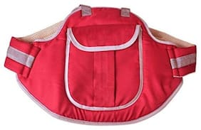 G&K Baby Carry Cot  Safety Belt for Kids-When Travelling On Two Wheeler.(Red).