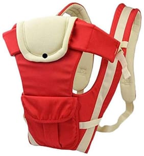 G&K Cotton 4 In 1 Baby Carrier Bag Shoulder Belt Sling,Waist Belt with Comfortable Head Support.( Red-White).