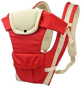 G&K Cotton 4 In 1 Baby Carrier Bag Shoulder Belt Sling,Waist Belt with Comfortable Head Support.( Red-White).