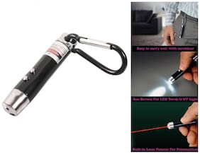 Gadget Hero's 3 in 1 Portable Key Chain Has Laser Pointer, Led Torch (Flash Light) & UV Light.