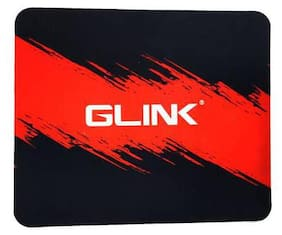 gaming mouse pad 20 x 24 cm red & black
