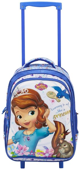 Genie Sofia Majesty 29 Litres Trolley Kids school bag (Blue)