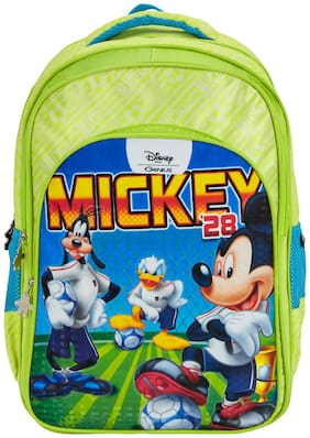 Genius Disney Champion 29 Litres Kids school bag (Green)