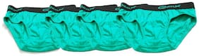 Genx Brief For Boys - Green , Set of 4