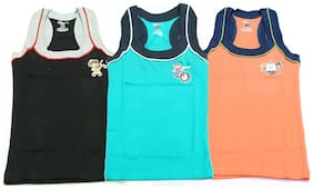 Genx Vest For Boys - Multi , Set of 3