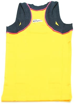 Genx Vest For Boys - Yellow , Set of 5