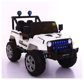 GetBest 6688 Battery Operated Ride on Jeep for Kids with Remote Control;White