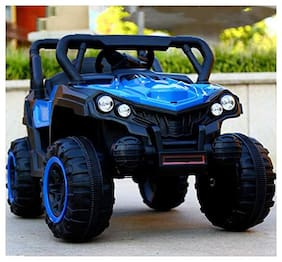 GetBest 808 Battery Operated Ride on Jeep for Kids with Remote Control;Blue