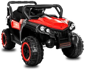 GetBest 808 Battery Operated Ride on Jeep for Kids with Remote Control;Red