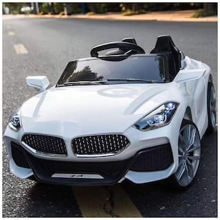 GetBest Fiesta Z4 Kids Battery Operated Ride on Car for Kids with|Suitable for 2-7 Yrs| 12V Battery| Twin Motors| Swing Function| White