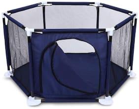 GetBest Hexagonal Baby Ball Pool Baby Play Pen Big Size Indore Outdoor with Door, Blue