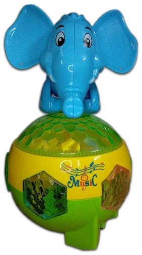 Getitbae Elephant Mischievous Dulcet Music;Rotation;Lighting;Music;Bump & Action Toy For Kds