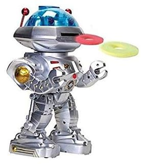 GETITBAE Multi Function Star Kavass Robot Moving Forward with Leather Wheels Sound Lights Effects Toy for Kids