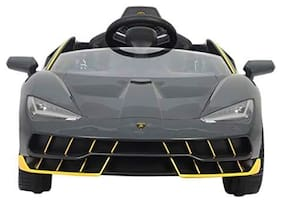 GettBoles Little Flyer Officially Licensed Centenario Electric Ride on Car with Two Motors. 12V Rechargeable Battery, Music System with Bluetooth Connectivity, Butterfly Doors, Black