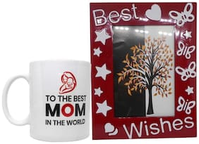 Gift Combo For Mother - Quote Coffee Mug & Photo Frame