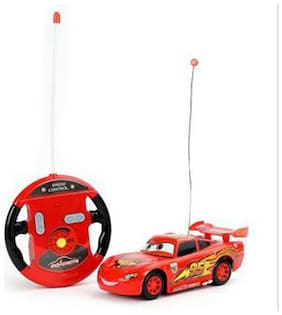 Gift World MCQUEEN STYLISH 4 FUNCTION REMOTE CAR- FAST SPEED