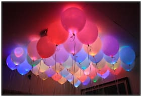 Gifts Online Set of 25 LED Balloons for Party Festival Diwali Christmas New Years Celebrations - Assorted Colours